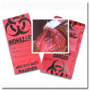Red Biohazard Bag