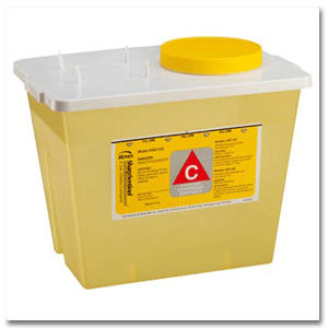 Sharps Chemotherapy Container