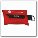 First Aid CPR Keychain with Gloves