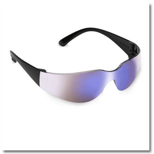 Bulldog: Black Frame/Blue Mirror Lens: 9489BL/MR