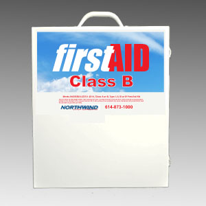 First Aid Cabinet 300 ANSI 2014 Compliant with Trauma Bag