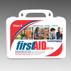 Commercial First Aid Kit ANSI 2015 25 Person