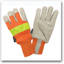 Hi-Vis Leather Gloves<br> With Thinsulate&#8482