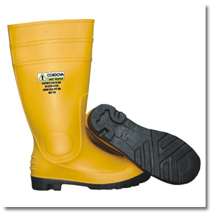 Yellow PVC Boots: 13-361
