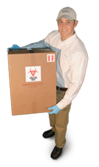 Regulated Medical Waste Disposal Serviceman